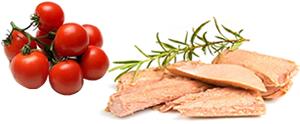 Busiate sicilienne avec thon et tomates cerises